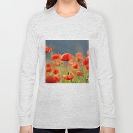 Red Poppies Flowers Long Sleeve T-shirt