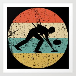Curling Vintage Retro Curler Art Print
