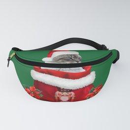 Nutcracker Christmas Bag - Santa Claus Grey Cat  Fanny Pack