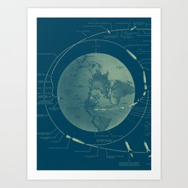 From the Earth to the Moon Art Print