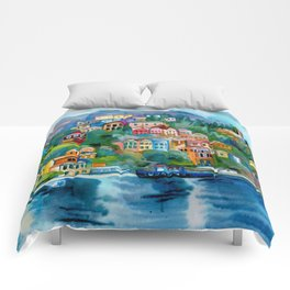 Symi island Comforters