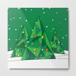 Vector Christmas Tree Metal Print