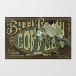 Frog & Coffee by Paulo Coruja Canvas Print