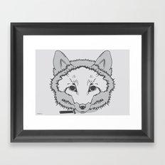 Pirate Fox Framed Art Print