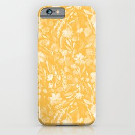 Upside Floral Golden Yellow iPhone Case