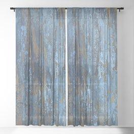 Beautiful rustic wood texture Sheer Curtain