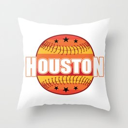 Houston Baseball Texas USA America Gift Throw Pillow