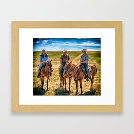 cowboys Framed Art Print