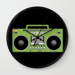 Retro Ghetto Blaster Wall Clock