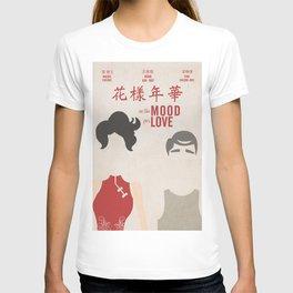 In the mood for love, minimal movie poster, Wong Kar-wai, Tony Leung, Maggie Cheung, Hong Kong film T-shirt