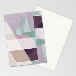 Pastel tone . Abstraction . Stationery Cards