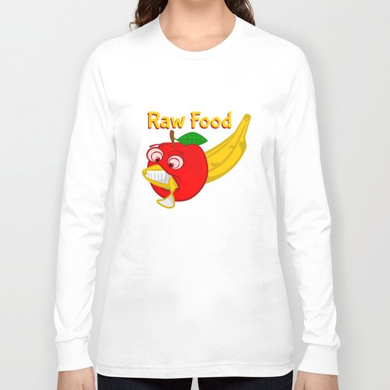 Raw Foods Food Fight Long Sleeve T-shirt