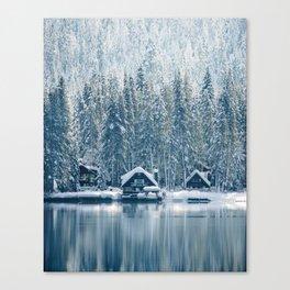 Winter's Cottage (Color) Canvas Print