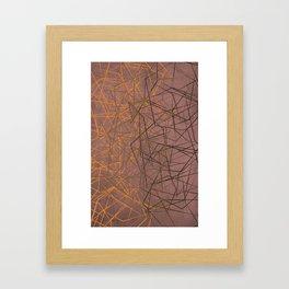 Broken Glass (Mauve) Framed Art Print