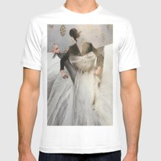 Whiteout White MEDIUM Mens Fitted Tee