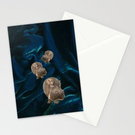 Hippo Parade on Velvet Stationery Cards