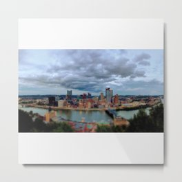 My City of Steel Panorama Metal Print