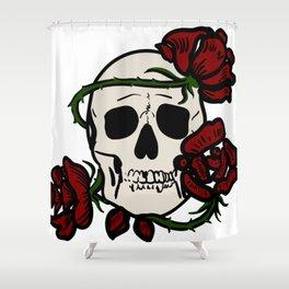 Skull & Roses Shower Curtain