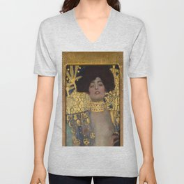 Gustav Klimt - Judith and the Head of Holofernes Unisex V-Neck