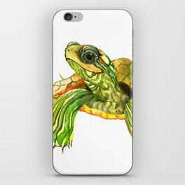 Baby Turtle, Green, Yellow Olive Green Children iPhone Skin