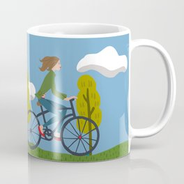 Bike Girl Coffee Mug