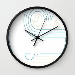 Moonlight Companions Wall Clock
