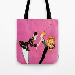 """""""Clown and Butterfly Girl"""" by Annie Fish Tote Bag"""