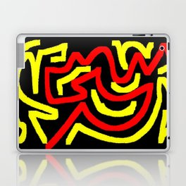 Black yellow red Laptop & iPad Skin
