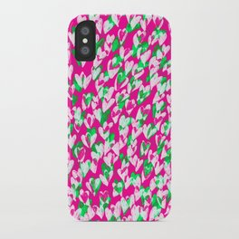 Love hearts iPhone Case