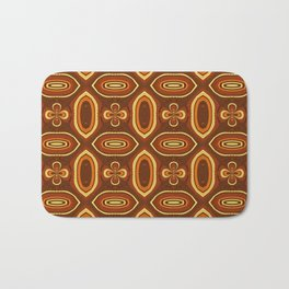Brown algorithmic maze Bath Mat