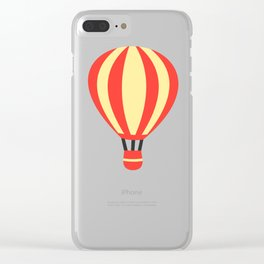 Classic Red and Yellow Hot Air Balloon Clear iPhone Case