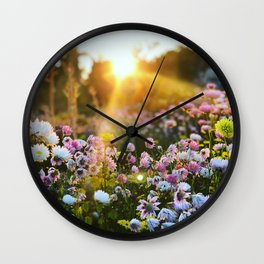 Magical Wildflowers Wall Clock