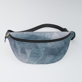 Ameythist Crystal Inspired Modern Abstract Fanny Pack