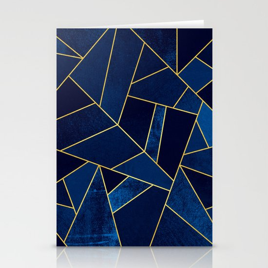 Blue stone with yellow lines by elisabethfredriksson