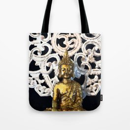 Gold Buddha Om Tote Bag