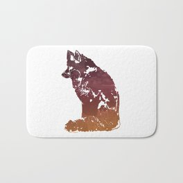 Vulpes vulpes, North American Red Fox Bath Mat