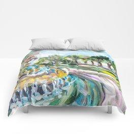 Charleston Pineapple Fountain Comforters