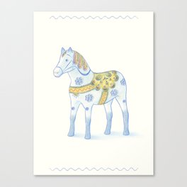 Memories of a wooden horse Canvas Print