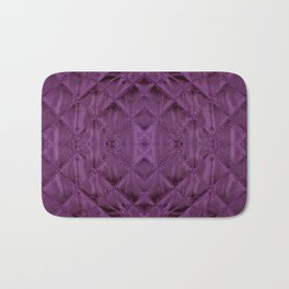 Purple quilted cloth texture abstract Bath Mat