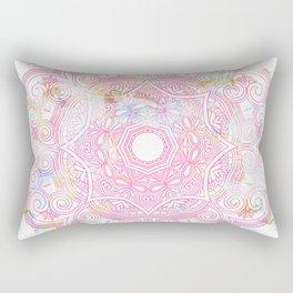 Pastel pink mandala ornament design Rectangular Pillow