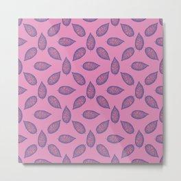 Dieffenbachia ultra violet tropical leaf seamless pattern. Metal Print