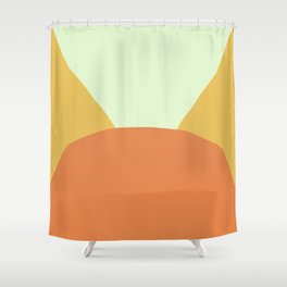Deyoung Orange Shower Curtain