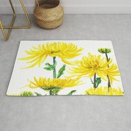 Yellow Chrysanthemums Rug