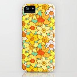 Daffodils (blue) iPhone Case