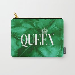 Queen Green Marble Carry-All Pouch