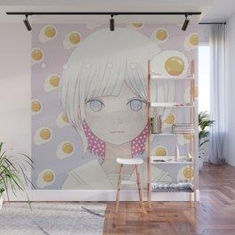 Silence egg-san Tamago fuyashitabaai Wall Mural
