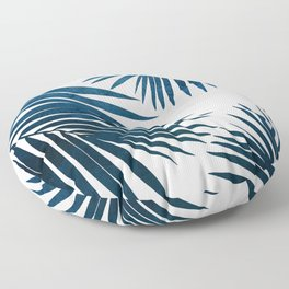 Indigo Palm Fronds Floor Pillow