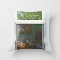 garfield Throw Pillows featuring Garfield in the House by Cody_Van
