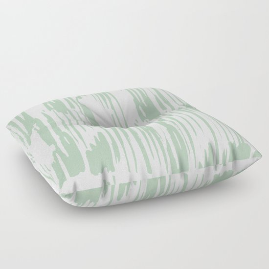 Green Floor Pillows : Bamboo Stripe Pastel Cactus Green White Floor Pillow by Simple Luxe Society6