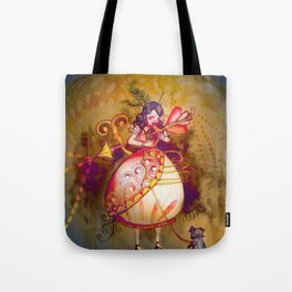 Love in Wonderland Tote Bag